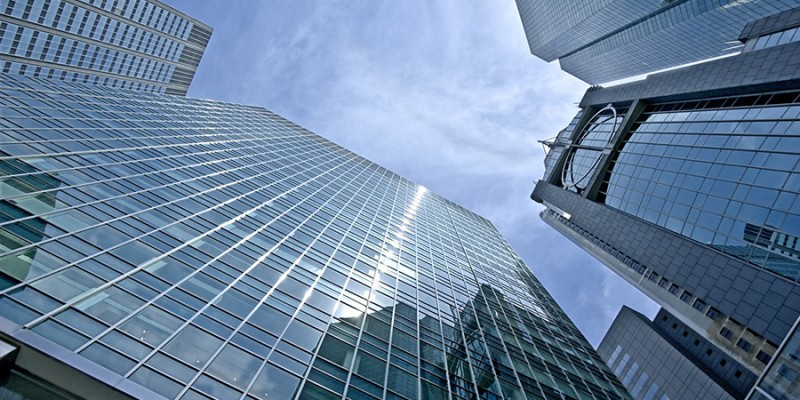 urban view at modern building